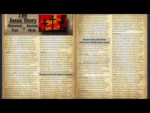 The Jesus Story Historical Fact or Ancient Myth