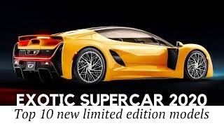 12 New Supercars with Exotic Looks and Limited Production Numbers (Exterior/Interior Review)