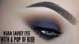 Smokey eye with a pop of blue - Makeupbyan