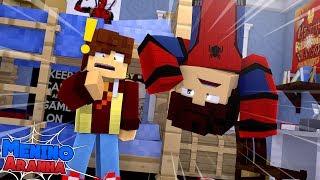 Minecraft: MENINO ARANHA - MEU AMIGO DESCOBRIU MINHA IDENTIDADE SECRETA!!! #77