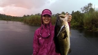 Bass Fishing in the Rain! GoPro Hero 3