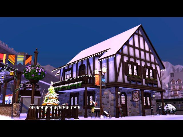 Sims 4 | House Building | Festive Bar