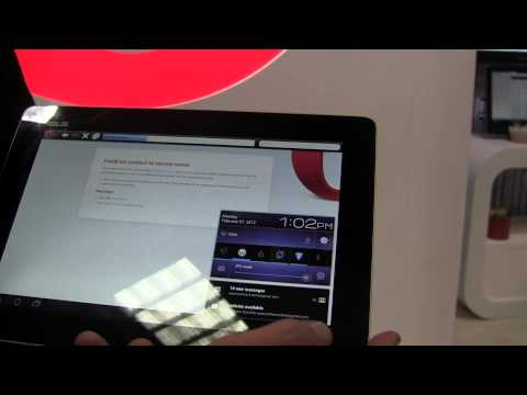 Opera Mobile 12 Hands-on And HTML 5 Test [MWC 2012]