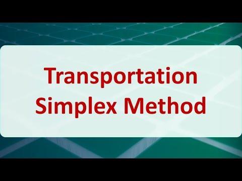 07B Transportation Simplex Method