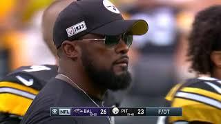Justin Tucker Game-Winning Field Goal | Ravens vs. Steelers  | NFL