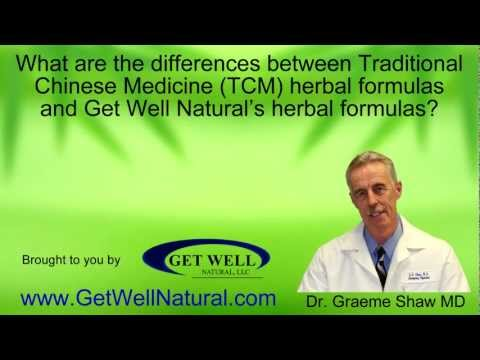 Traditional Chinese Medicine Herbal Formulas Versus Get Well Natural's