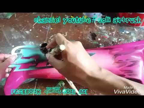 """Airbrush trick part 1""""Colli Airbrush"""""""