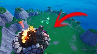 How to FLY with the CAMPFIRE in Fortnite Season 8 (Glitch)