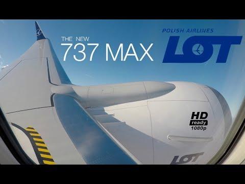 LOT Polish Airlines 737MAX Inaugral *FULLFLIGHT* London-Warsaw