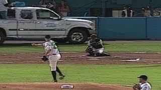 A.J. Burnett hurls a warmup pitch that SHATTERS a car glass window!