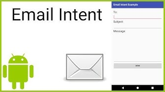 How to Send an Email via Intent - Android Studio Tutorial