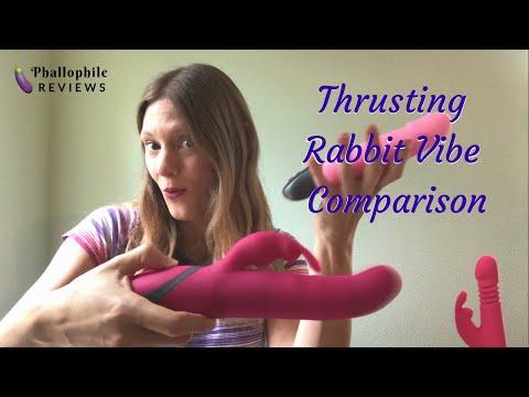 Thrusting Rabbit Vibe Demo: Lovehoney Happy Rabbit Thrusting Vs. BMS Commotion Cha Cha Pulsing Bunny