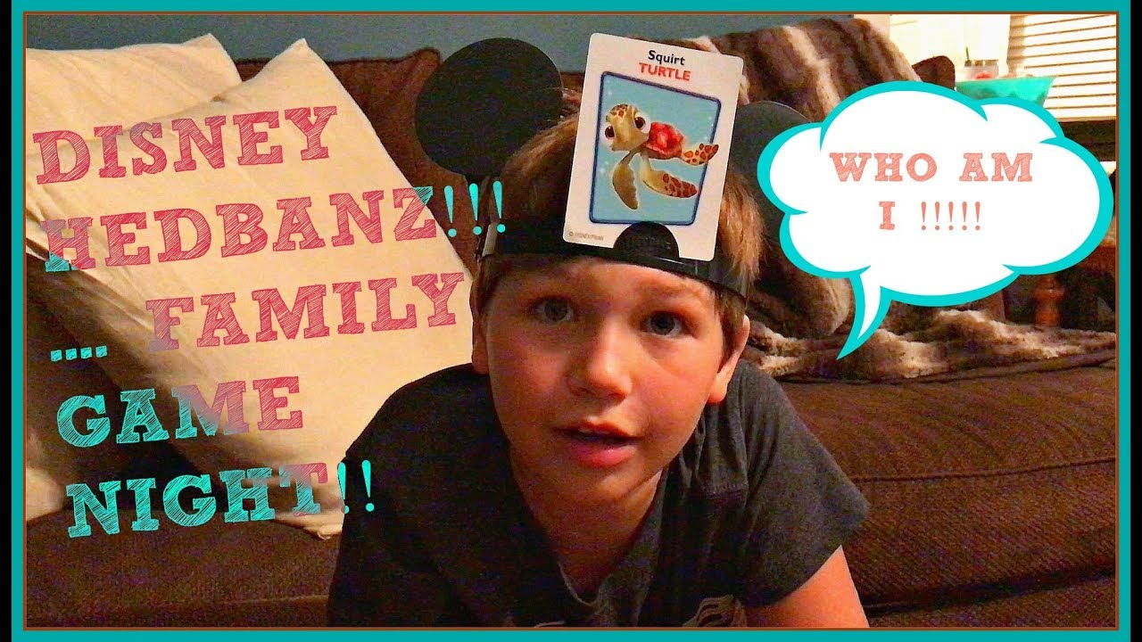 Disney Hedbanz! Family Game Night! Headbands and Dance Practice!
