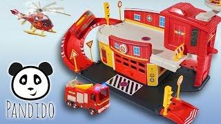 ⭕ Feuerwehrmann Sam RettungsStation - Spielzeug ausgepackt und angespielt - Pandido TV