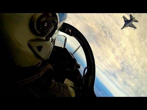 DCS World Dogfight Mirage 2000C  Vs F-16C   [ Gun Only ]