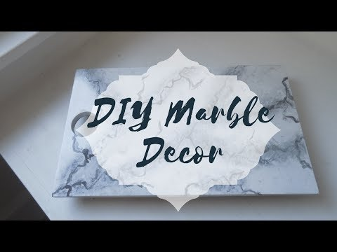 How To DIY Marble Decor | Easy Paint Marble Technique