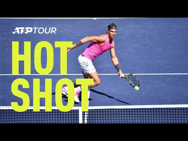 Hot Shot: Nadal Shows Smooth Hands At Net At Indian Wells 2019