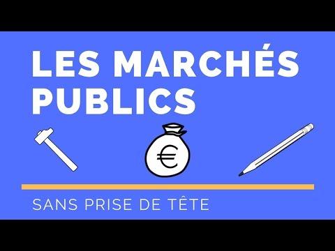 Les marchés publics en 1 map