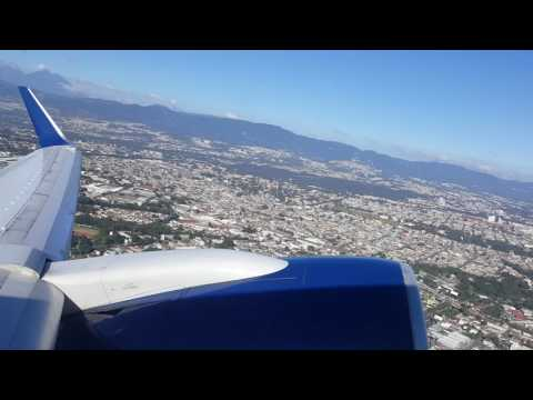 Take off from Guatemala to Los Angeles - Delta Boeing 757 200 OW