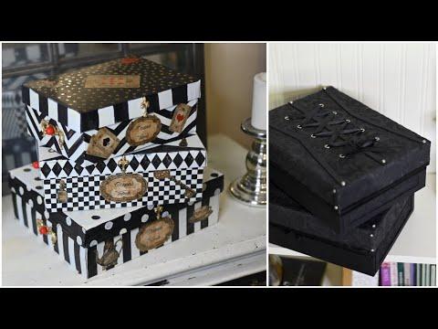Красота из мусорного ведра! Идеи декора обувных коробок