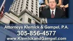 Miami Motorcycle Accident Lawyer, Klemick Gampel, Auto Accidents, MIAMI FL