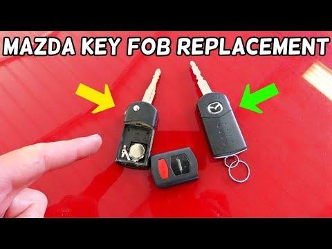 HOW TO REPLACE KEY FOB ON MAZDA 2 3 5 6 CX7 CX9 MIATA MX5 RX8 CX-7 CX-9