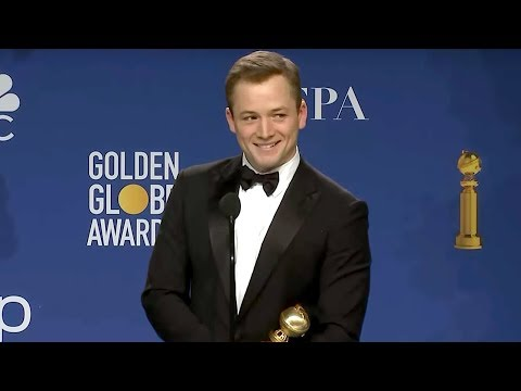 Taron Egerton - Rocketman | Golden Globes 2020 Full Backstage Interview