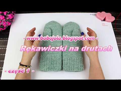 Rękawiczki z jednym palcem. Tutorial / DIY