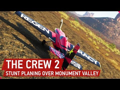 [4K] The Crew 2 Gameplay: Stunt Planing Over Monument Valley