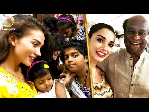 Amy Jackson Turns 26 Amy Celebrates Her Birthday With Orphaned Kids