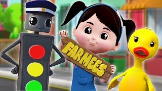 Mr Traffic Signal  Preschool Learning Songs For Children  Cartoon Video