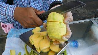 удивительные навыки нарезки фруктов - тайская уличная еда