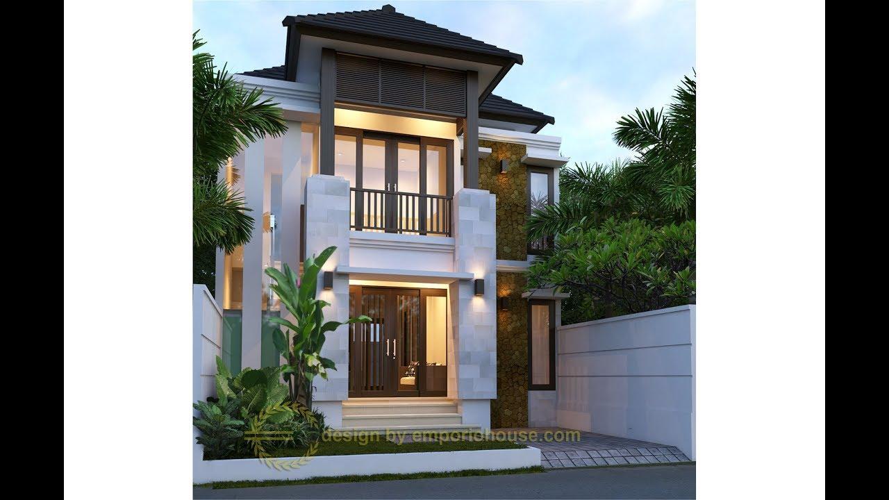 Paket Produk Desain Rumah 2 Lantai 4 Kamar Tidur Lebar Depan 8 M Youtube