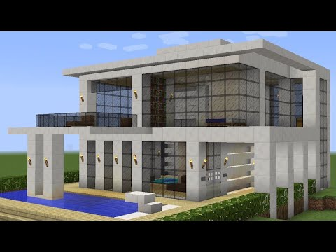 Minecraft how to build a modern vacation house 2 youtube for Modern vacation homes