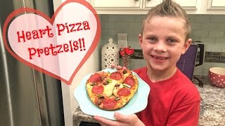 Heart Pizza Pretzels!! Cooking With The Kids Vlog!!