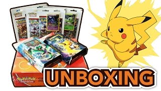 Pokemon Trading Card Game XY Breakthrough (Burning Spark / Night Striker) Theme Deck Unboxing!!