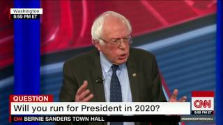 Bernie Sanders answers the question: Will you run for President in 2020?