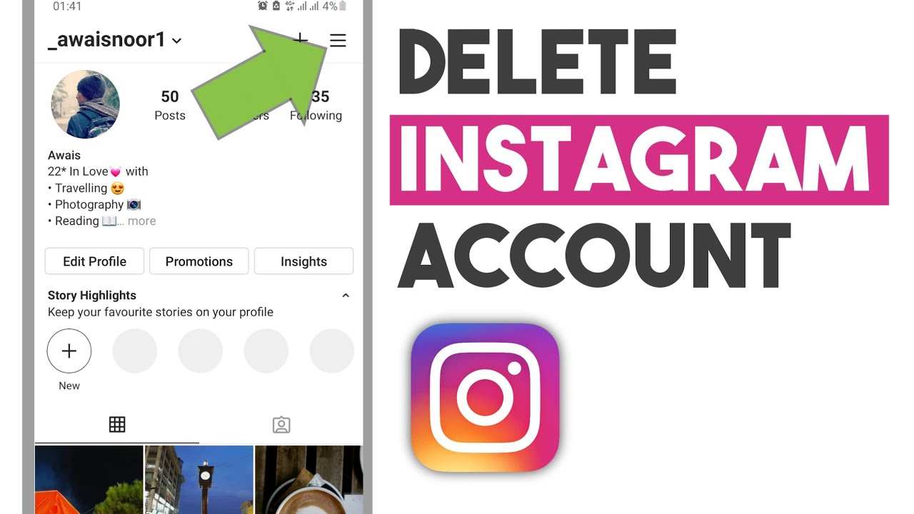 How to Delete Instagram Account Permanently on Phone 23  Delete  Instagram Account Android
