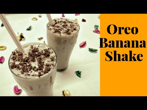 Oreo Banana Shake Recipe | Banana Milk Shake | Kids Special Banana Smoothie | Healthy Shake