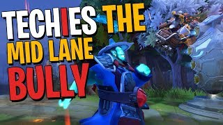 Techies the Mid Lane Bully - DotA 2