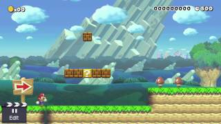 Super Mario Maker: Creating my First Level!