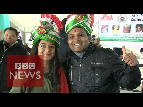 Indian PM Modi packs out Wembley - BBC News