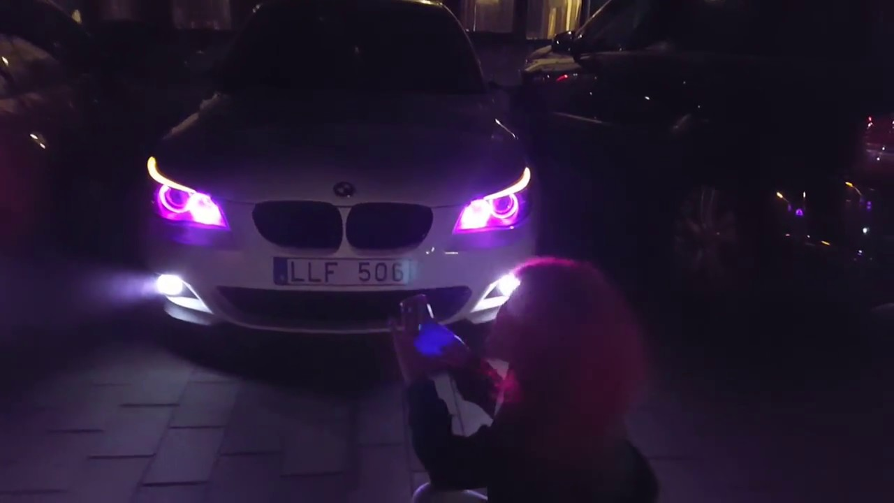 BMW E60 Angel Eyes Multi Color Iphone Change YouTube