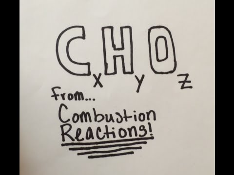 How To Find Empirical Formula From A Combustion Reaction
