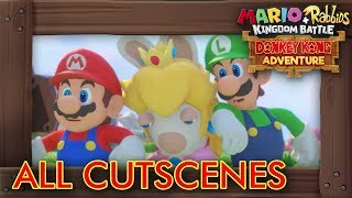 Mario + Rabbids - Donkey Kong Adventure: All Cutscenes The Movie HD