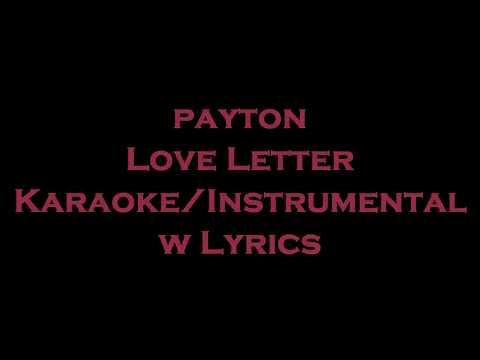 payton - Love Letter KaraokeInstrumental w