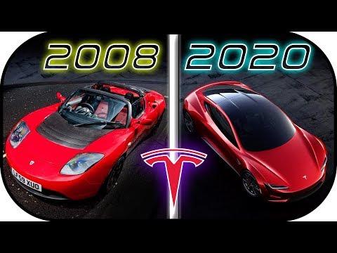 EVOLUTION of TESLA Cars (2008-2020) Tesla History ► Tesla roadster 2020 Tesla Semi 2019