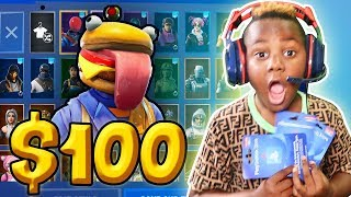 Kid Spends $100 On Season 10 *MAX* Battle Pass With Dad's Credit Card! (Fortnite)