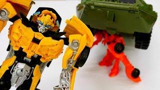 Игры с Трансформерами - Бамблби или вездеход? – Тест драйв машинок и роботов!