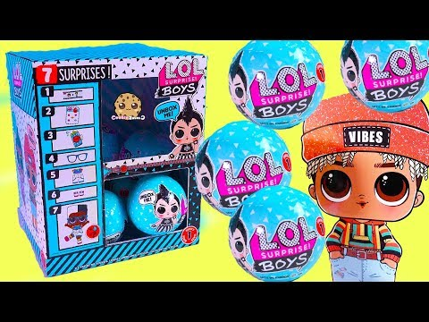 Box Of NEW LOL Surprise BOYS Mystery Blind Bags ! (Almost) Full Set - Video
